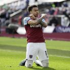 West Ham United's Jesse Lingard celebrates scoring their second goal against Tottenham