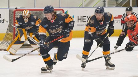 Harry Gulliver and Zach Sullivan in action for Raiders