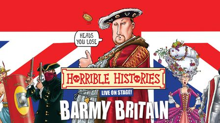 Horrible Histories Barmy Britain can be seen on stage at Knebworth House.