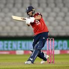 Somerset's Lewis Gregory batting for England