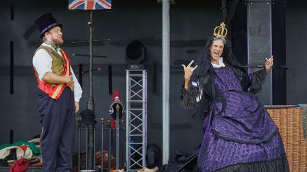 Car Park Party presents live on stage Horrible Histories Barmy Britain at Knebworth House.