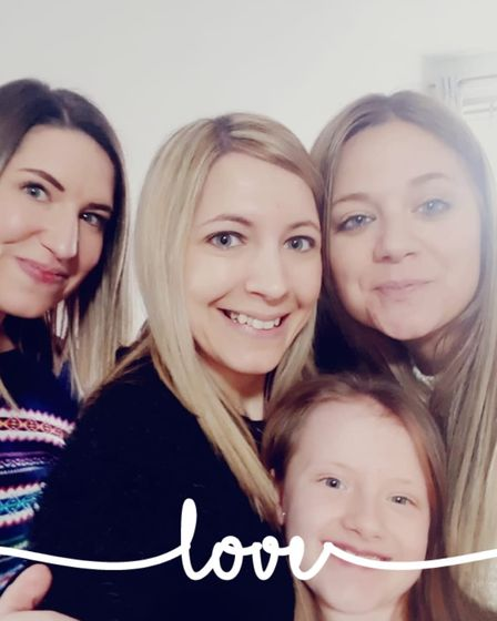 Hatfield mum Lynsey with her sisters Kirsty in the middle and Cheryl to the right. Kayla, Lynsey's daughter, is also on...