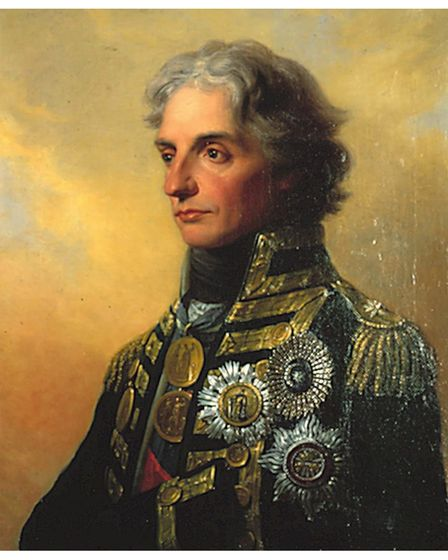 The Royal Navy Museum's official portrait of Admiral Lord Nelson, who died at the of the Battle of Trafalgar in 1805