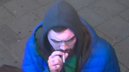 A CCTV image of a man was obtained from a shop near to the scene of the attack in Ilford High Road and police are...