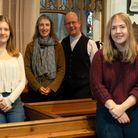 Seaton and Beer vicar Jeremy Trew, pictured with wife Alison, centre, and daughters Rachel, left, and Eleanor, right