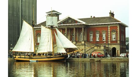 HMS Pickle, Nelson's fast messenger ship, which brought news of the Trafalgar victory and Nelson's death, visited Ipswich in 2005
