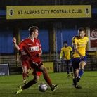 Mitchell Weiss in action for St Albans City.
