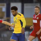 Shaun Jeffers in action for St Albans City FC