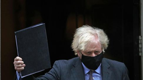 Prime Minister Boris Johnson leaving 10 Downing Street, London, to give his speech to Parliament whe