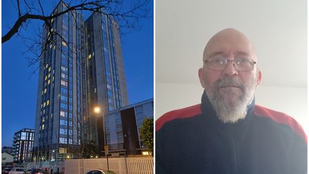 Jean-Paul Savelli saw the fire below from his 11th floor flat