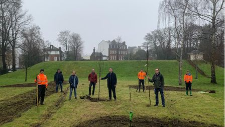 The Dream For Trees team at thesocially distanced planting