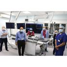 Staff in the newly refurbished cath lab at Northwick Park hospital