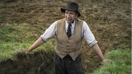 Ralph Fiennes as Basil Brown in Netflix's The Dig.