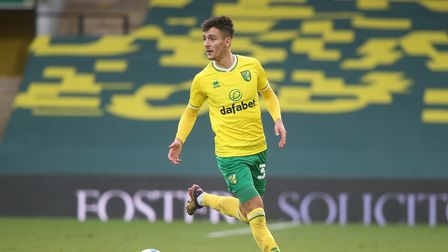 Dimitris Giannoulis of Norwich in action during the Sky Bet Championship match at Carrow Road, Norwi