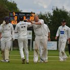 Jon Carpenter celebrates a wicket as Eaton Socon beat Liphook & Ripsley in the National Village Cup