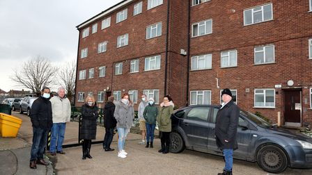 St Helens Court residents came together to oppose the controlled parking permit plans.