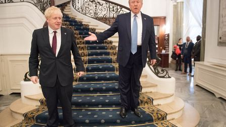 Boris Johnson meeting US President Donald Trump for bilateral talks during the G7 summit in Biarritz