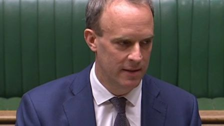 Dominic Raab speaking at prime minister's questions in the House of Commons (Pic: Parliament)