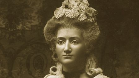 A waxwork of Swiss wax modeller Marie Tussaud (1761 - 1850). In 1835 she set up a permanent exhibiti