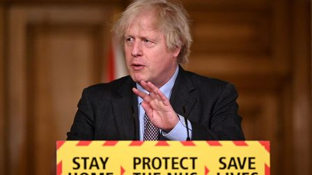 Prime Minister Boris Johnson during a media briefing in Downing Street, London, on coronavirus.