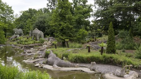 Dinosaurs sculptures in Crystal Palace Park. Picture: Moment Editorial/Getty Images