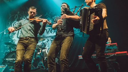 Scottish Celtic rock band Skerryvore have topped the charts with fundraising single Everyday Heros.