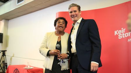 Labour MP Sir Keir Starmer with Baroness Doreen Lawrence. Photograph: Peter Byrne/PA.