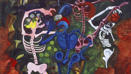 Edward Burra, Dancing Skeletons, 1934, (1905-1976). Photo � Tate, Copyright: � Tate