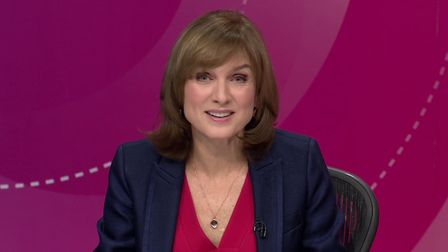 Fiona Bruce, presenter of the BBC's Question Time programme. Photograph: BBC.
