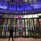 LONDON, ENGLAND - NOVEMBER 13: The BBC headquarters at New Broadcasting House is illuminated at nig
