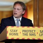 Transport secretary Grant Shapps during a media briefing in Downing Street on coronavirus (COVID-19)