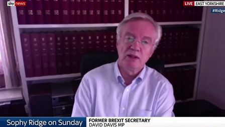 David Davis says 'government's job not to follow polls' but to 'do best thing for country'. Photogra