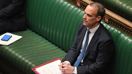 Dominic Raab in the House of Commons