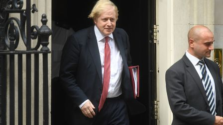 Prime Minister Boris Johnson leaves 10 Downing Street for the House of Commons. Photograph: Kirsty O