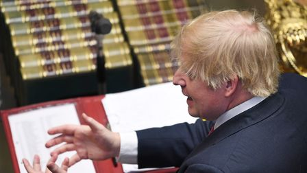 Boris Johnson in the House of Commons. Photograph: UK Parliament/Jessica Taylor