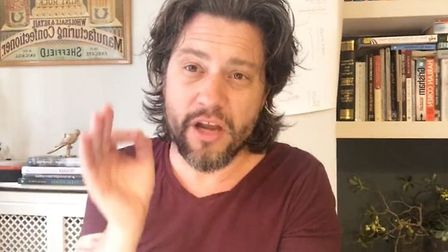 Mike Galsworthy addressing followers on Facebook