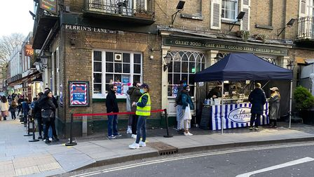 The pub-backed creperie reopened on Saturday