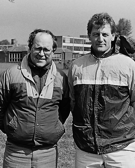 Tony Lye (left) and PeteOrd of Herts Ad Sunday League side Chequers