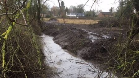 A cleared ditch in Tydd St Giles
