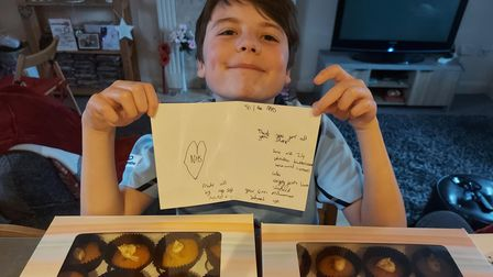 Liam with NHS cakes