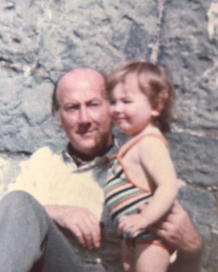 Wendy as a toddler with her father Richard, aged 51.
