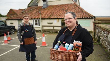 Alison Brewster, landlady and chocolatier, who has extended the Stokesby Village Shop at the Ferry I