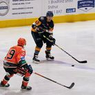 Raiders captain Aaron Connolly in action away to Telford Tigers