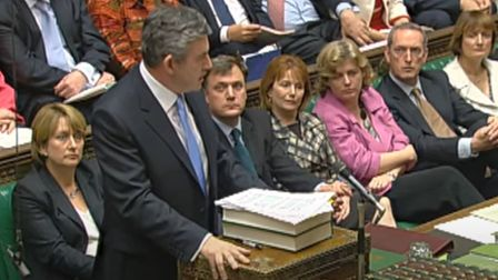 Gordon Brown speaking at prime minister's questions in the House of Commons (Pic: YouTube)
