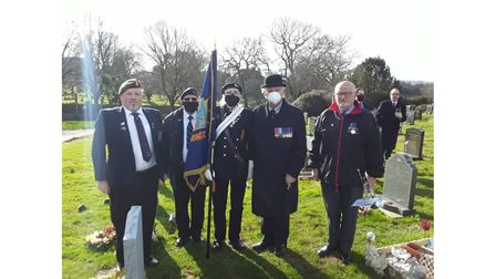 NVA veterans, colleagues and friends pictured paying their respects at a veteran's funeral