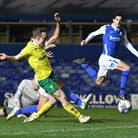 Oliver Skipp of Norwich scores his sides 3rd goal during the Sky Bet Championship match at St Andrew