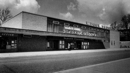 The Locarno Dance Hall in Stevenage, which has since become a Mecca Bingo hall