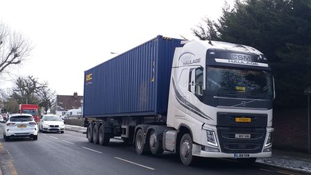 A lorry parked near Crow Metals