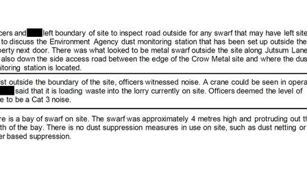 December 2020 Environment Agency report on Crow Metals