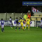 Wealdstone in action against Eastleigh in the National League